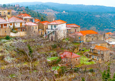 In Kosmas village in Greece Royalty Free Stock Photos