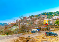 In Kosmas village in Greece. The pictorial Kosmas village in southern Peloponnese in Greece Royalty Free Stock Photography
