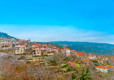 In Kosmas village in Greece. The pictorial Kosmas village in southern Peloponnese in Greece Stock Photography