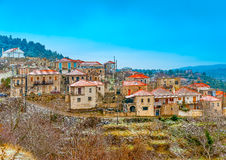 In Kosmas village in Greece Stock Photos