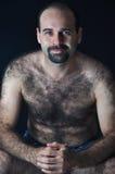 kosmaty mężczyzna Fotografia Royalty Free
