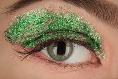 Kosmetik des grünen Auges Lizenzfreie Stockfotografie