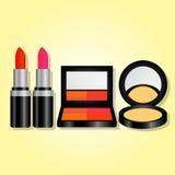 Kosmetik eingestellt für Anzeige Lizenzfreies Stockbild