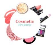 Kosmetik eingestellt lokalisiert auf Weiß Lizenzfreie Stockfotografie