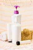 Kosmetik für bodycare Lizenzfreies Stockbild