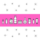 Kosmetik-Ikonen eingestellt Stock Abbildung
