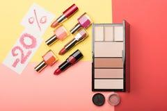 Kosmetik im Verkauf -20% Lizenzfreie Stockfotografie