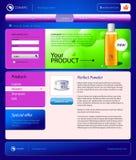 Kosmetik online kaufen site-Schablone Lizenzfreie Stockfotos