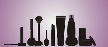 Kosmetik-Schattenbild Stockfoto