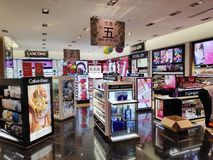 Kosmetik speichern in Sentosa-Insel, Singapur lizenzfreies stockbild