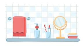Kosmetikflaschen-Schablonensatz des Vektors flacher Stockfotos
