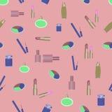 Kosmetikparfümeriemusterabstraktions-Make-uplippenstift Lizenzfreie Stockfotos
