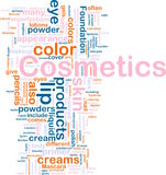Kosmetikprodukthintergrundkonzept Lizenzfreies Stockfoto