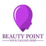 Kosmetiksalonlogo-Designschablone Stockbild