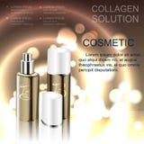 Kosmetikschablonen-Flaschenspray für die Haut Lizenzfreie Abbildung