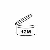 Kosmetiksymbol-Vektordesign PAO 12M stockfotografie