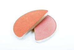 Kosmetisch compact stof Stock Afbeeldingen