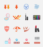 Kosmetisch pictogram en embleem Stock Fotografie