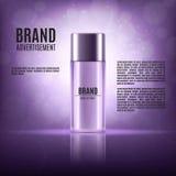 Kosmetische Anzeigenschablone Lizenzfreies Stockfoto