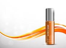 Kosmetische Anzeigenschablone der Hautfeuchtigkeitscreme vektor abbildung