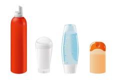 Kosmetische Behälterschablonen Stockfotos