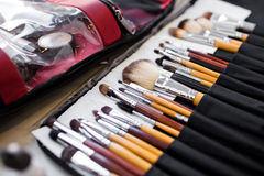 Kosmetische borstel Royalty-vrije Stock Foto's