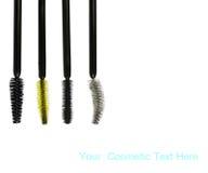 Kosmetische borstel vier Royalty-vrije Stock Afbeeldingen