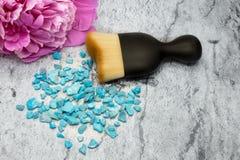 Kosmetische borstel voor make-up Stock Foto