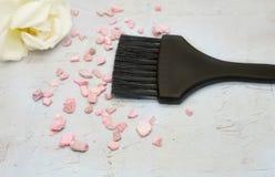 Kosmetische borstel voor make-up op witte achtergrond Royalty-vrije Stock Afbeelding