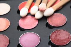 Kosmetische borstels Stock Afbeeldingen