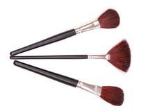 Kosmetische borstels Stock Afbeelding