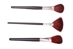 Kosmetische borstels Royalty-vrije Stock Afbeeldingen