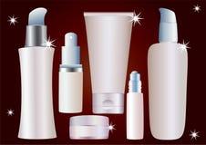 Kosmetische container. Stock Afbeeldingen