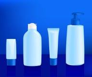Kosmetische containermalplaatjes Royalty-vrije Stock Fotografie