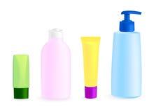 Kosmetische containermalplaatjes Royalty-vrije Stock Foto's