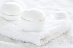 Kosmetische containers royalty-vrije stock afbeeldingen