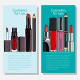 Kosmetische Fahnen Lizenzfreies Stockfoto