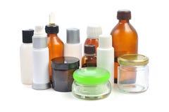 Kosmetische Flaschen Stockfotos
