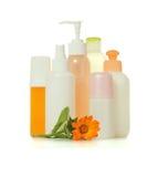 Kosmetische flessen Royalty-vrije Stock Fotografie