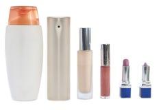 Kosmetische flessen stock afbeelding
