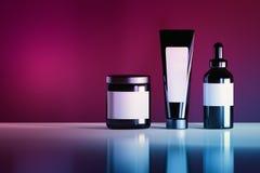 Kosmetische flessen in trillende kleuren vector illustratie