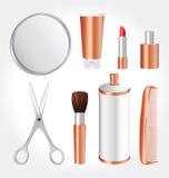 Kosmetische Hilfsmittel Lizenzfreie Stockfotos