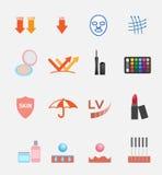 Kosmetische Ikone und Logo Stockfotografie