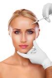 Kosmetische injectie Stock Afbeelding