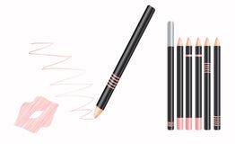 Kosmetische lippenvoering Stock Fotografie