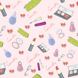 Kosmetische naadloos in kleur Royalty-vrije Stock Afbeelding