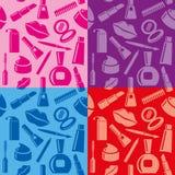 Kosmetische naadloze patronen Stock Foto's