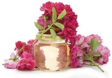 Kosmetische olie van rozen Royalty-vrije Stock Foto