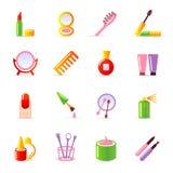 Kosmetische pictogrammen Stock Foto