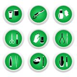 Kosmetische pictogrammen voor Webontwerp Stock Afbeeldingen